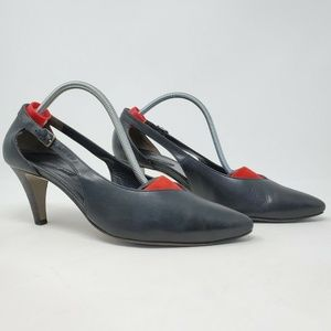 Paul Green cut out Black Leather Pumps